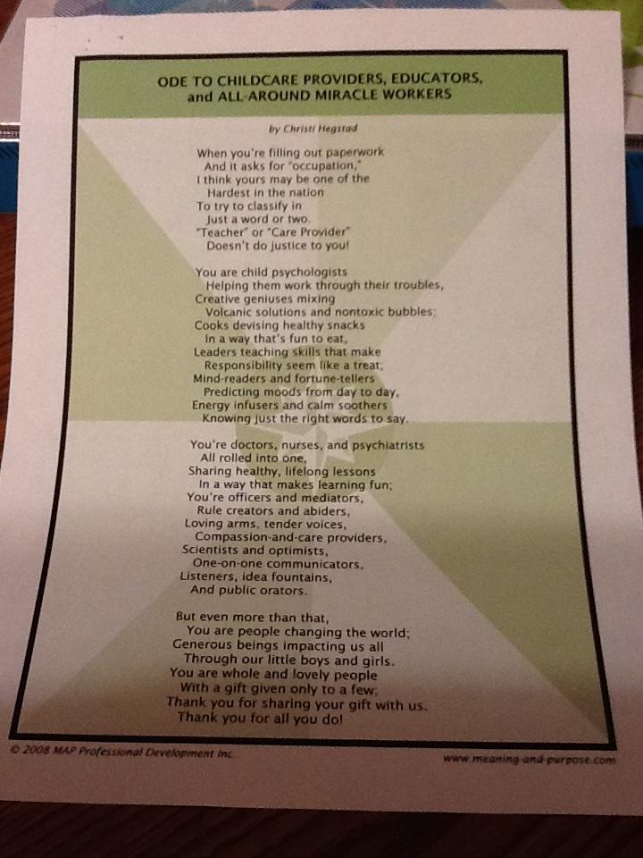 Poem Of Gratitude For Teachers | MAP Professional Development