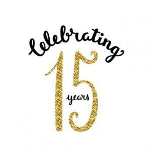 15 Celebrate Fifteen Years Anniversary