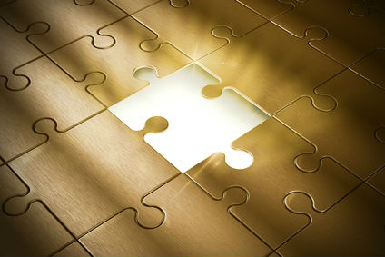 Puzzle Piece Missing Gold
