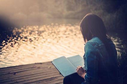 Woman Journal Lake Book