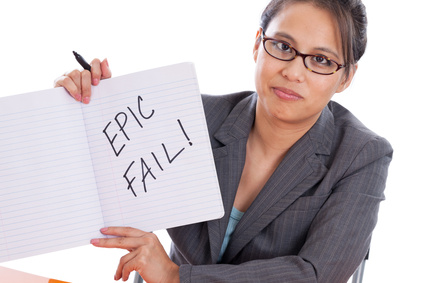 Asian professor with epic fail sign