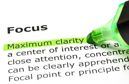 'Maximum clarity' highlighted, under 'Focus'