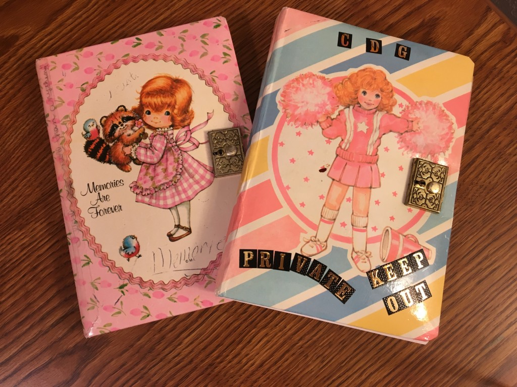 My first two journals ever, which I still have. The secure locks ensure they will never be read, right? :-)