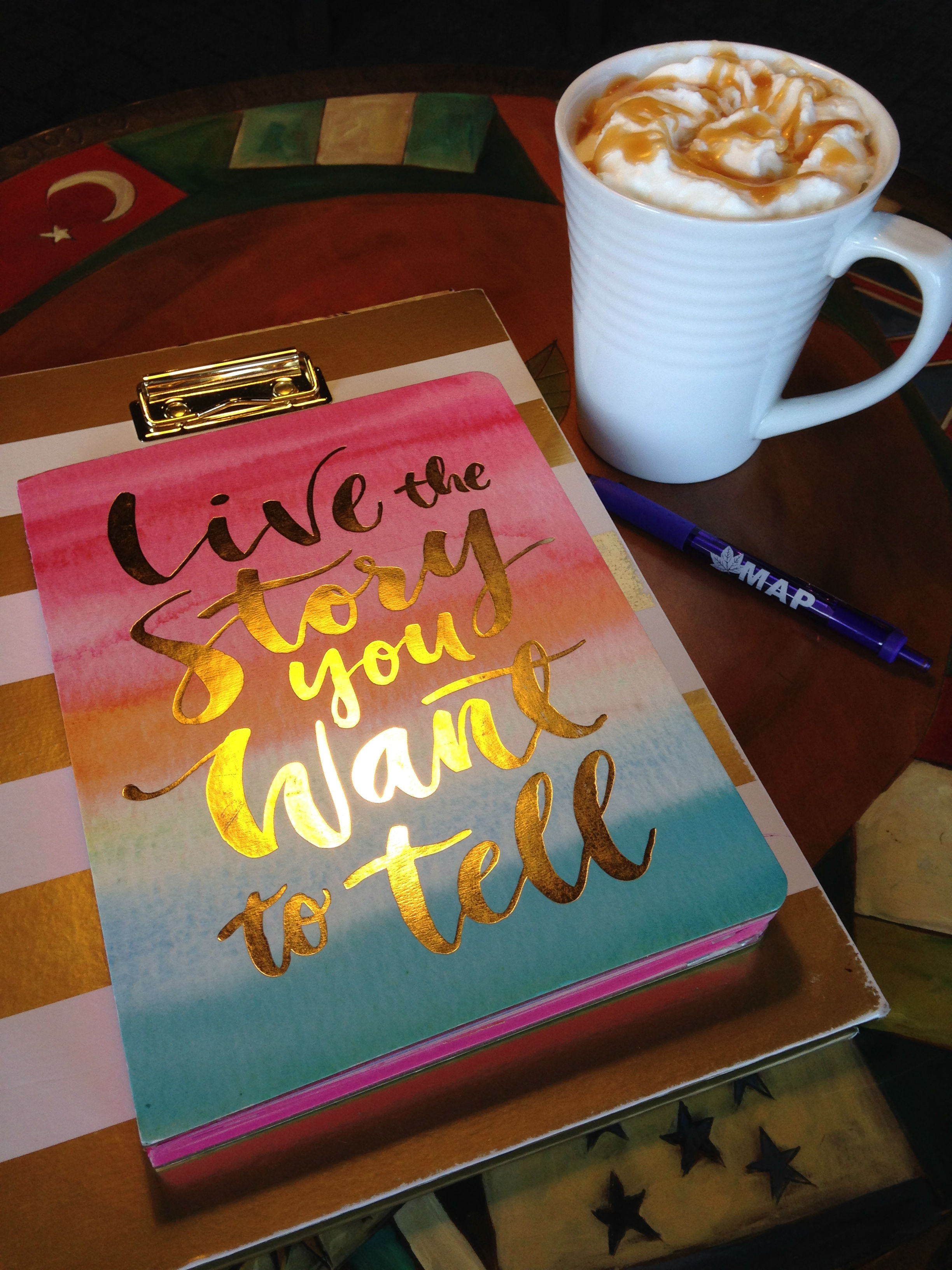Journal Live Story Want Tell Coffee Fancy Caramel