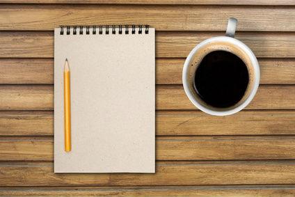 Coffee Notebook Pencil