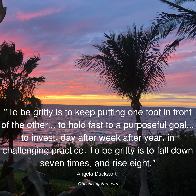 Grit Duckworth Quote Mexico Palm Tree