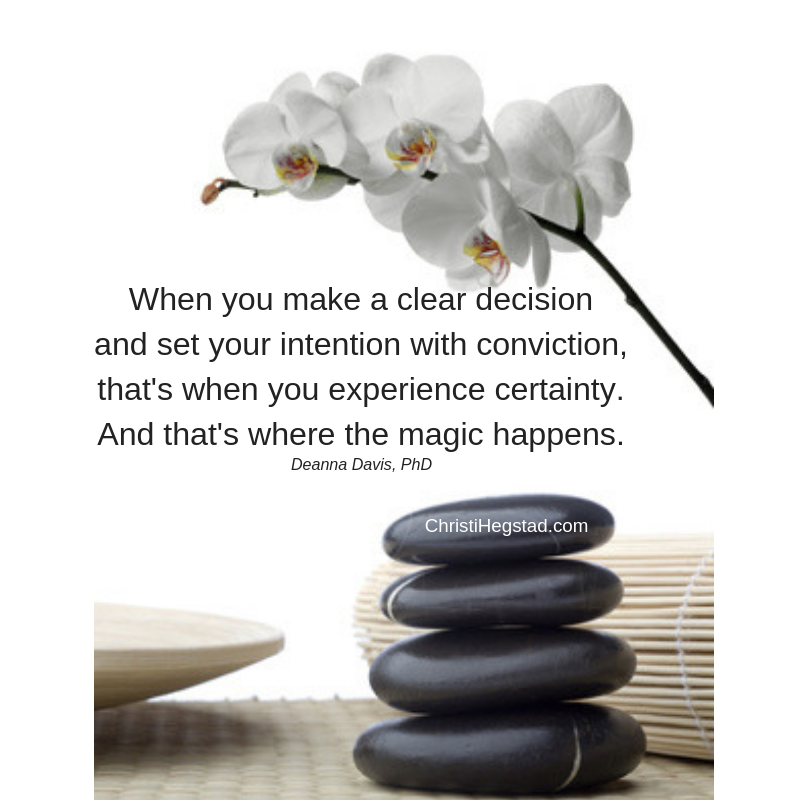 Clear Decision Intention Magic Quote Zen Rocks