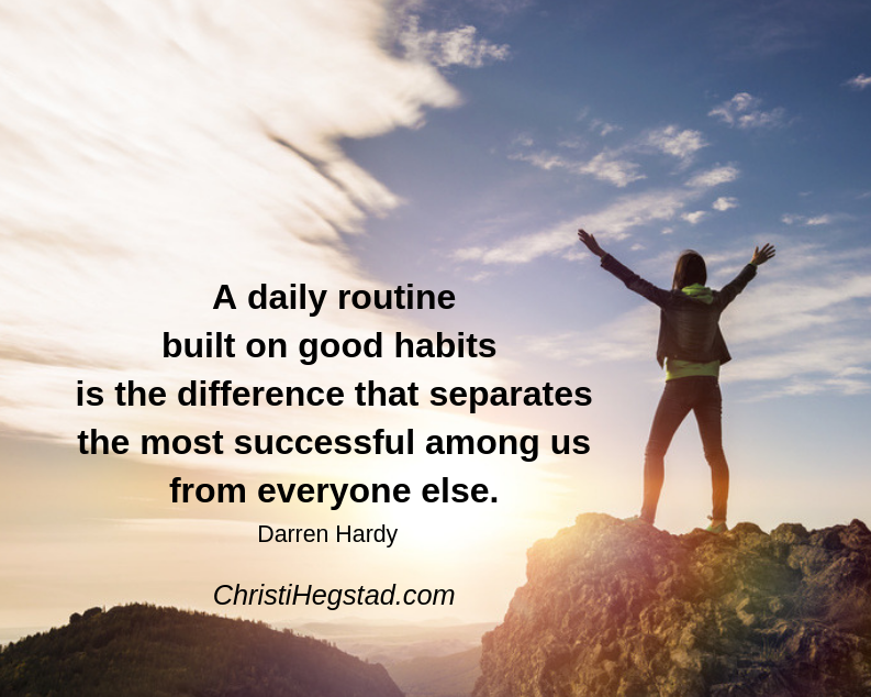Routine Good Habits Hardy