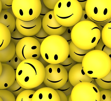 Smileys Showing Happy Cheerful And Smiling Faces