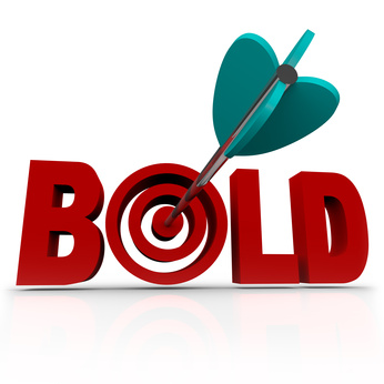 Bold - Arrow in Word Bullseye - Be Aggressive