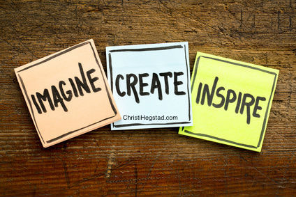 Imagine Create Inspire Post it w website