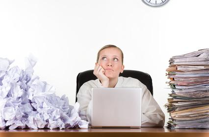 Businesswoman with paperwork