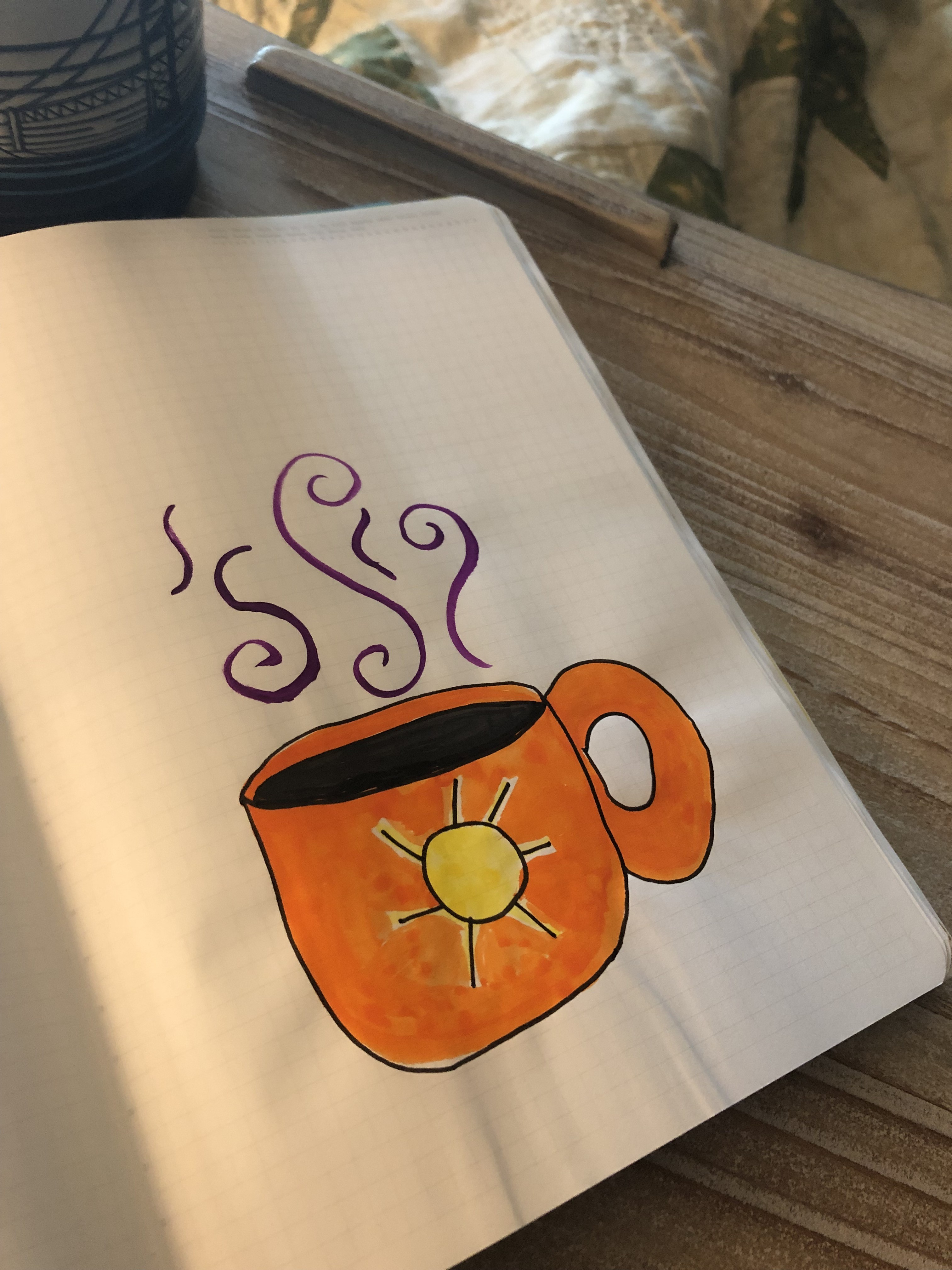 Watercolor Coffee Cup Journal